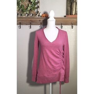 NWT Anthropologie Pullover Sweater Pink Rose Rusch